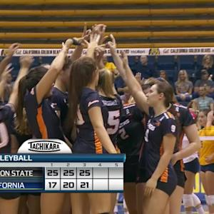 Recap: Mary-Kate Marshall leads Oregon State women's volleyball past Cal
