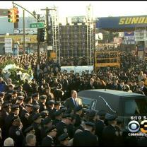 Tens Of Thousands Gather For Funeral Of NYC Officer Killed In Ambush