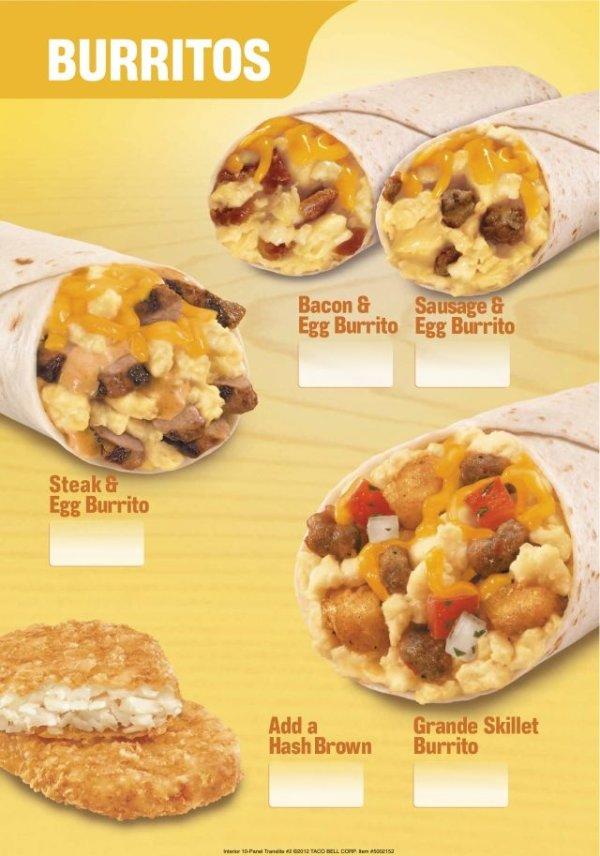 Taco Bell launches new breakfast menu - Yahoo News Singapore | 600 x 855 jpeg 80kB