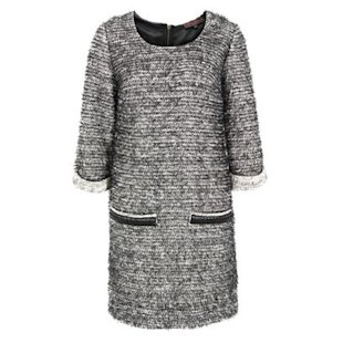 Windsor White and Black Eyelash Knit Dress Great Plains: Office: What To Wear: Shift Dresses