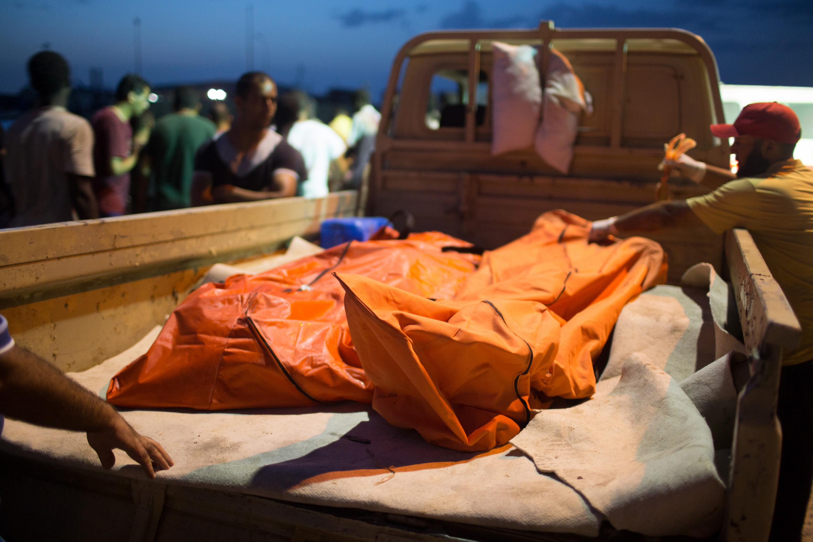 Libya collects victims' bodies from latest migrant disaster
