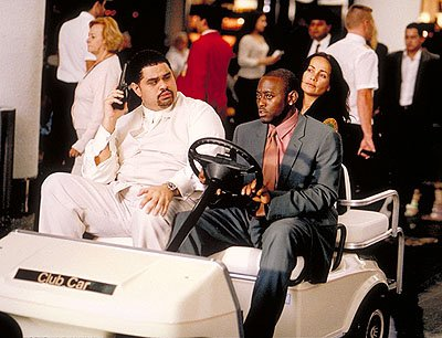Heavy D , Omar Epps and Janeane Garofalo in Touchstone's Big Trouble