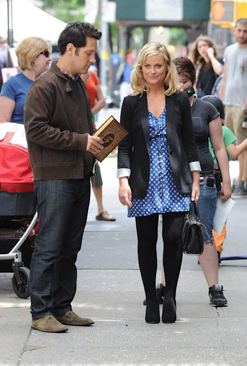 Spotted on set, Amy Poehler, Paul Rudd