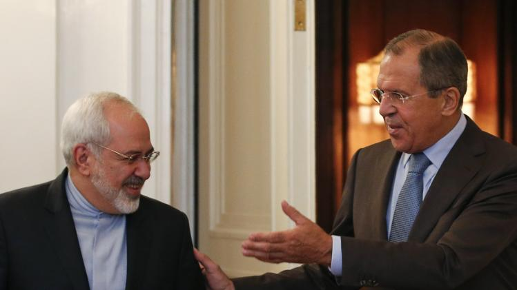 Russian Foreign Minister Sergei Lavrov meets with his Iranian counterpart Javad Zarif in Moscow