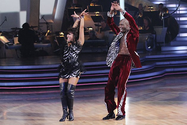 Chad Ochocinco and Cheryl Burke perform on &quot;Dancing with the Stars.&quot; 