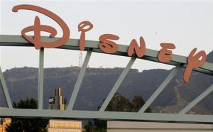 File photo of the main gate of The Walt Disney Co in Burbank