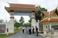 File photo of the main gate of the Extraordinary Chamber in the Courts of Cambodia (ECCC) in Phnom Penh. The UN-backed tribunal's 250 local workers, including judges and prosecutors, have not been paid since June because of a cash shortage. Most of them have been on strike since September 1