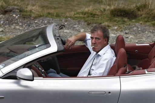 Jeremy Clarkson was filmed on location in India with a Jaguar car fitted with a toilet in the boot