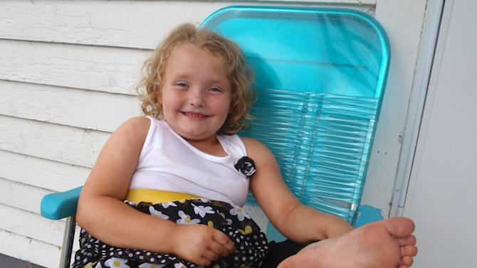 """This undated publicity photo released by TLC shows Alana, better known as Honey Boo Boo, in McIntyre, Ga. The second season of """"Here Comes Honey Boo Boo,"""" premieres on Wednesday at 9 p.m. EST. (AP Photo/TLC)"""