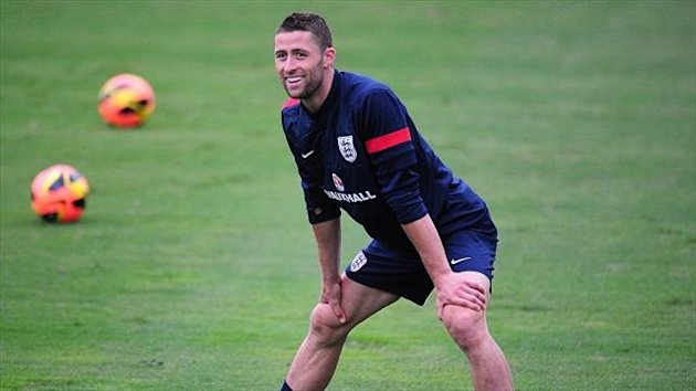 Gary Cahill, pictured, has enjoyed playing alongside Phil Jagielka for England