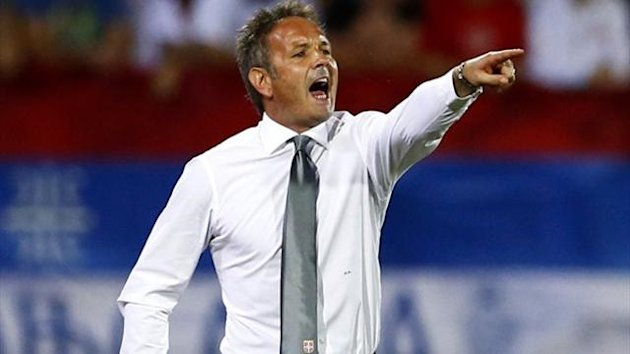Serbia national team coach Sinisa Mihajlovic