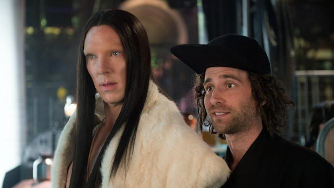 "In this image released by Paramount Pictures, Benedict Cumberbatch portrays All, left, and Kyle Mooney portrays Don Atari in a scene from, ""Zoolander 2."" (Wilson Webb/Paramount Pictures via AP)"