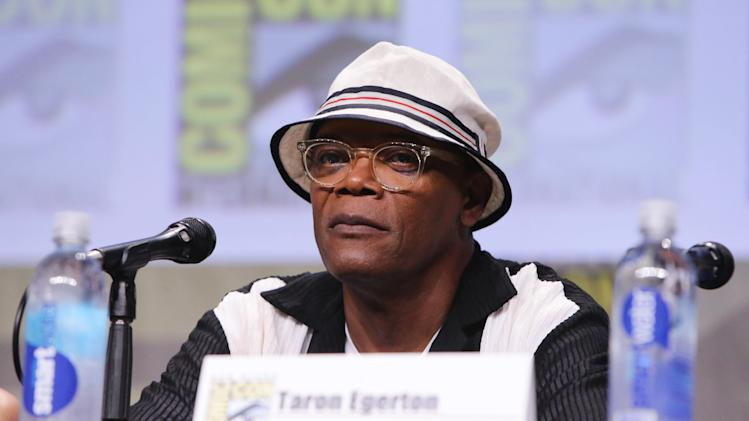Samuel L. Jackson seen at Twentieth Century Fox Panel at 2014 Comic-Con on Friday, July 25, 2014, in San Diego, Calif. (Photo by Eric Charbonneau/Invision for Twentieth Century Fox/AP Images)