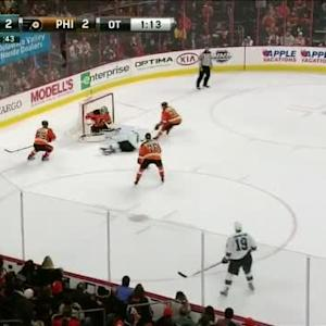 Steve Mason Save on Joe Pavelski (03:50/OT)