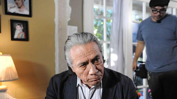"""This publicity photo provided by Pantelion Films shows Edward James Olmos in a scene from the film, """"Filly Brown."""" The film releases on April 19, 2013. (AP Photo/Pantelion Films/Lionsgate, John Castillo)"""