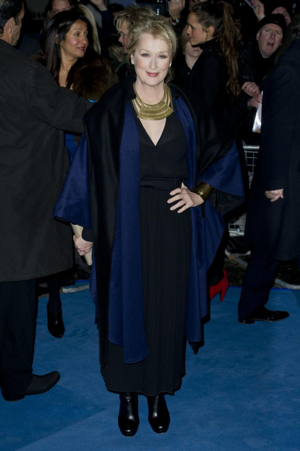U.S actress Meryl Streep, arrives for the European premiere of The Iron Lady, at a central London venue, Wednesday, Jan. 4, 2012. (AP Photo/Jonathan Short)