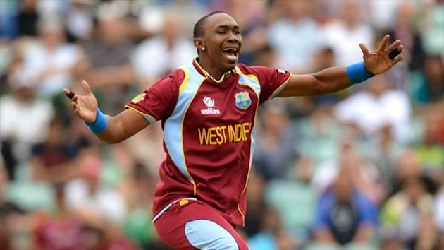 West Indies captain Dwayne Bravo, pictured, led from the front as the tourists beat New Zealand.