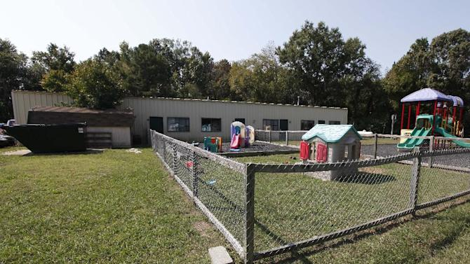 This Wednesday, Sept. 26, 2012 photo shows Tappahannock Children's Center in Tappahannock, Va. Chris Brown has logged more than 1,400 hours of community service for the 2009 beating of former girlfriend Rihanna, basically completing his sentence. The Associated Press has learned one-third of those hours were recorded at Tappahannock  Children's Center, a rural Virginia daycare center where the singer spent time as a child and his mother once served as director. (AP Photo/Steve Helber)