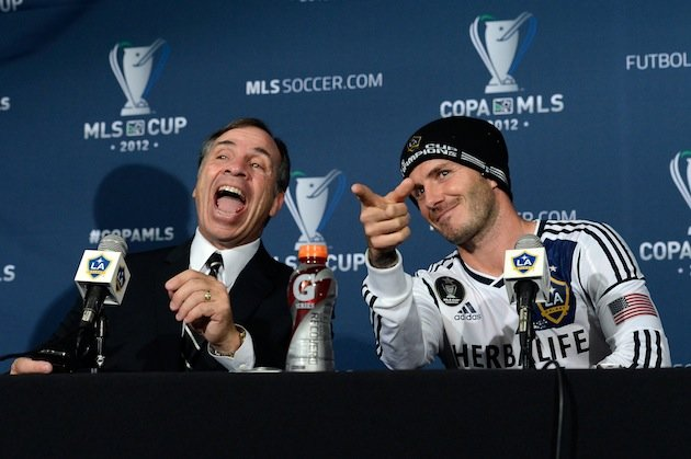 In Pictures: David Beckham ends his LA Galaxy career winning the MLS Cup Final
