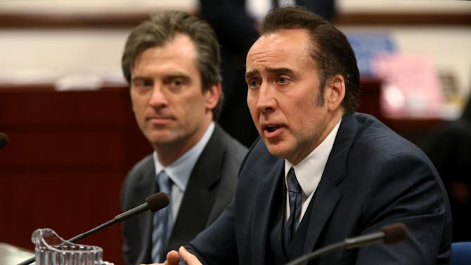 Nicolas Cage supports Nevada film tax credit bill