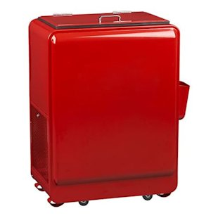 Retro, Red, Rolling Drink Cooler