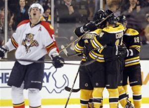 Marchand leads Bruins to 8-0 rout of Panthers