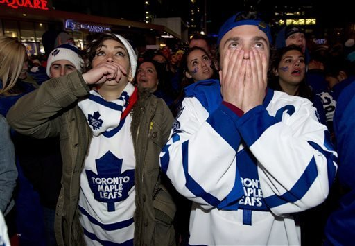 Watch Maple Leaf Square's Agonizing Reaction To Bruins' Tying, Winning Game 7 (video)