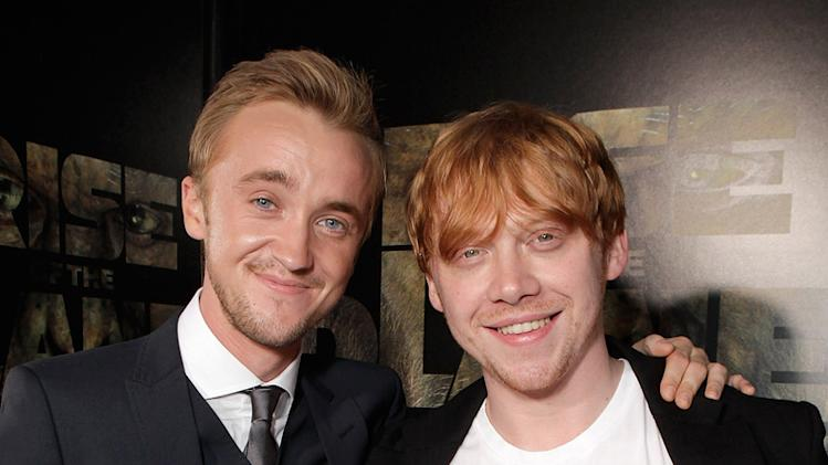 Rise of the Planet of the Apes 2011 LA Premiere Tom Felton Rupert Grint