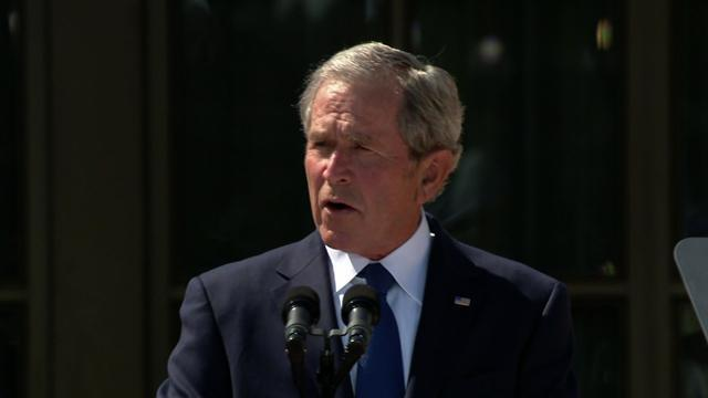 "Bush: U.S. ""must strive to expand the reach of freedom"""