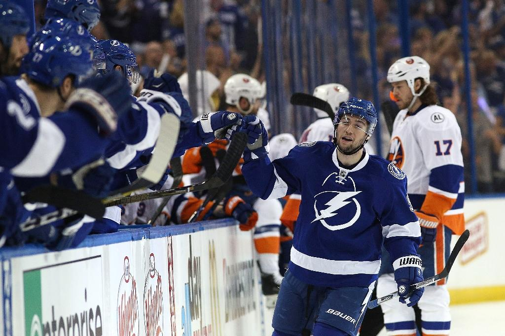 Triplets line helps Lightning even series with Isles