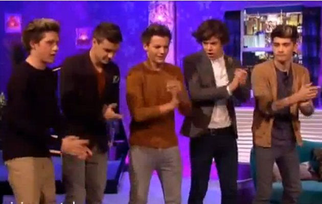 in the ultimate dance off, Zayn Malik still struggling with his moves
