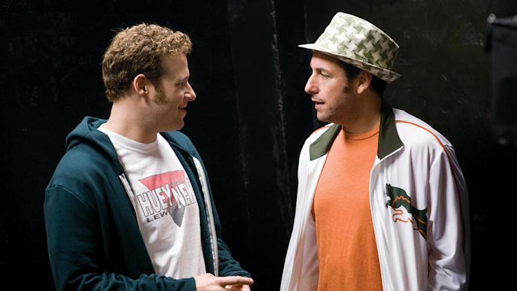 Seth Rogen Adam Sandler Funny People Production Stills Paramount 2009