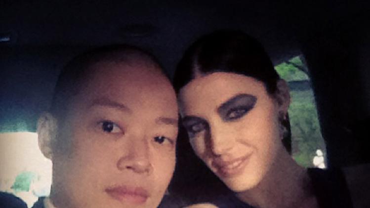 Jessica Pare and Jason Wu