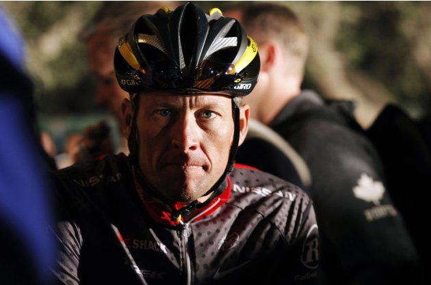 File photo of Lance Armstrong awaiting the start of the 2010 Cape Argus Cycle Tour in Cape Town