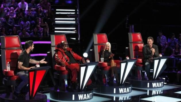 The Voice Season 5 - Adam Levine, CeeLo Green, Christina Aguilera, Blake Shelton -- NBC