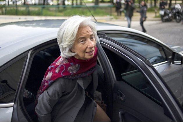 Head of the International Monetary Fund, Christine Lagarde, arrives at theCourt of Justice of the Republic, May 24, 2013