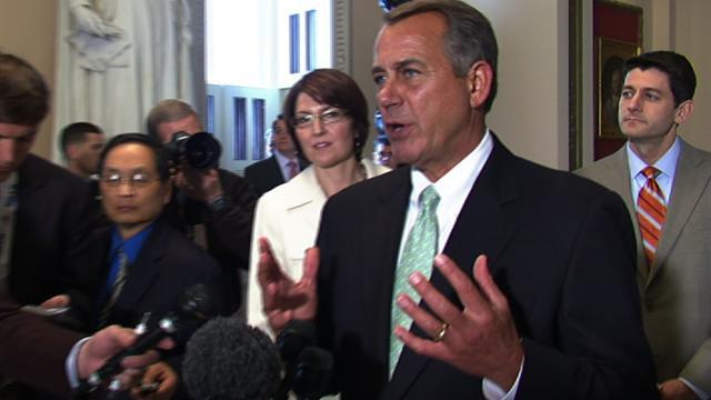 "Boehner: Debt ceiling suspension ""a message"" to Senate Democrats"