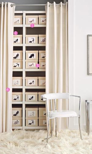 Create a Tidy and Discreet Shoe Library
