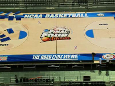Court Installed at Georgia Dome for Final Four