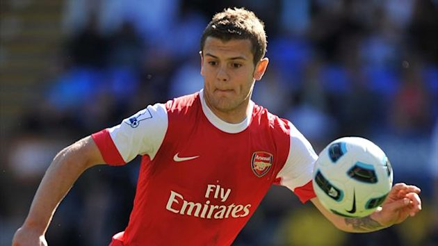 Jack Wilshere in action for Arsenal, 2011