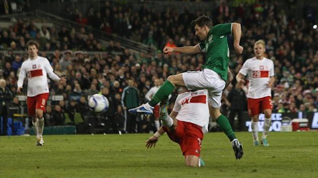 Wes Hoolahan, right, playing against Poland (PA Photos)