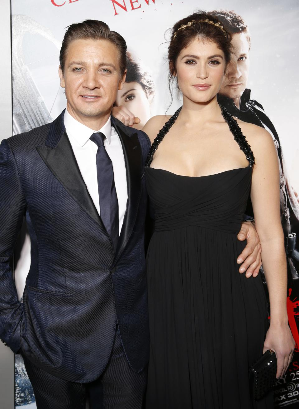 "Jeremy Renner and Gemma Arterton arrive at the premiere of ""Hansel & Gretel Witch Hunters"" on Thursday Jan. 24, 2013, in Los Angeles.  (Photo by Todd Williamson/Invision/AP)"