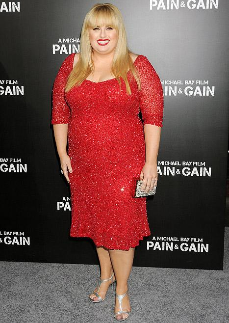 Rebel Wilson Gets Glam Makeover for Pain & Gain Premiere
