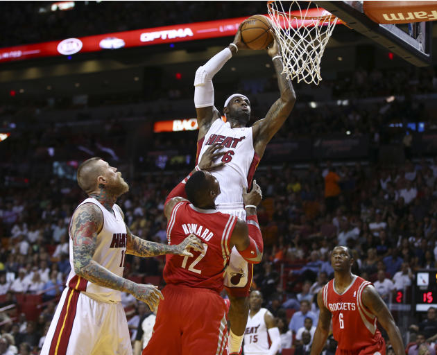 Allen gets hot late, Heat top Rockets 113-104