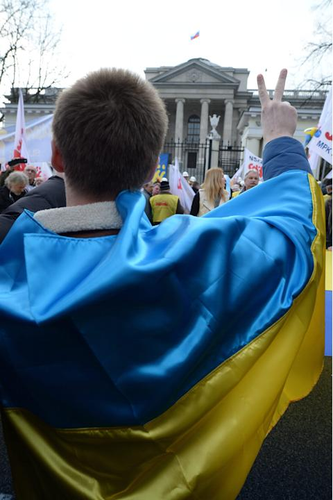 Demonstration against Russia's policy against Ukraine
