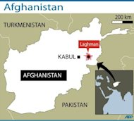 Map locating Laghman province in eastern Afghanistan. Eight women were killed and eight others were wounded in a NATO air strike east of Kabul, an Afghan official said Sunday, adding that an investigation had been ordered