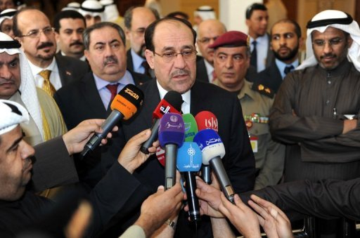The spokesman for Iraq's Kurdish regional president sharply criticised national premier Nuri al-Maliki, pictured in March 2012, for allegedly militarising Iraqi society and using violence for political ends