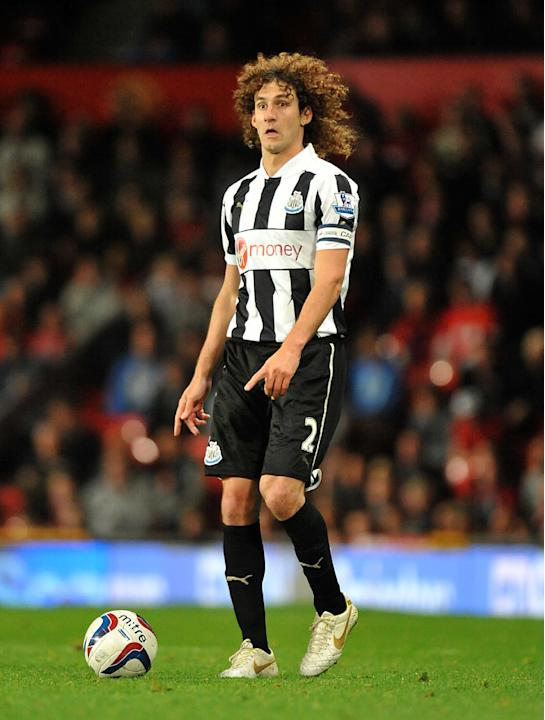 Fabricio Coloccini is back in action for Newcastle