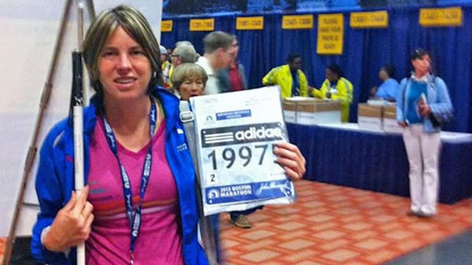 Legally blind Chino Hills runner talks about Boston Marathon experience