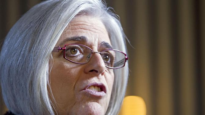 This photo taken Nov. 29, 2012 shows Judy Gross during an interview with The Associated Press at her home in Washington. Almost three years after her husband was arrested and jailed in Cuba, Judy Gross still talks to Americans who haven't heard his story. Now she is speaking more openly than in the past, hoping to make her husband's case as well-known as those of other Americans who won freedom after being jailed overseas.  (AP Photo/Jose Luis Magana)